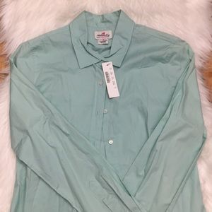 NWT, J. Crew mint button down, size small